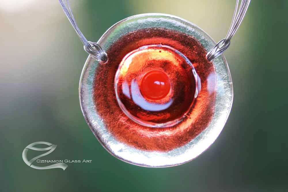 Narancs üveg medál