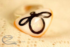 Festett üvegékszer, gyűrű