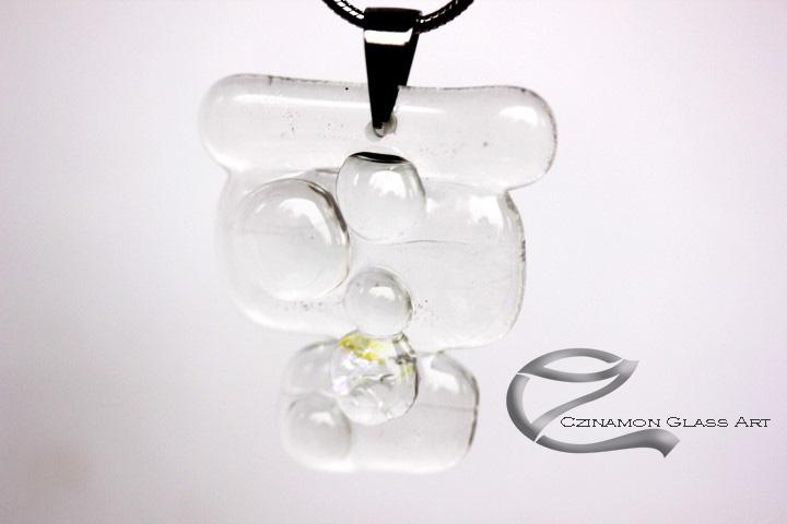 Átlátszó egyedi üveg medál