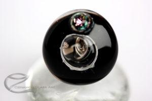 Fekete üveg gyűrű