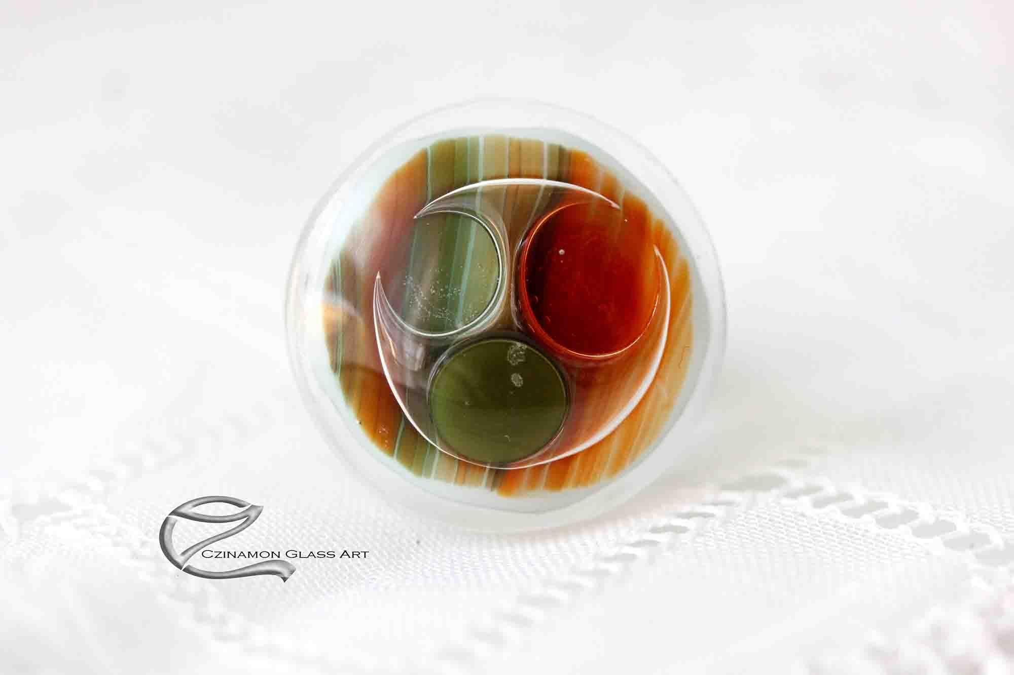 Narancs zöld üveg gyűrű