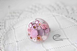 Millefiori gyűrű, rózsaszín