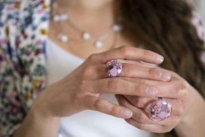 Muránói üveg gyűrű