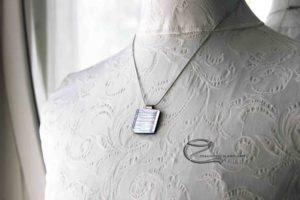 Ezüst dichroic üvegmedál