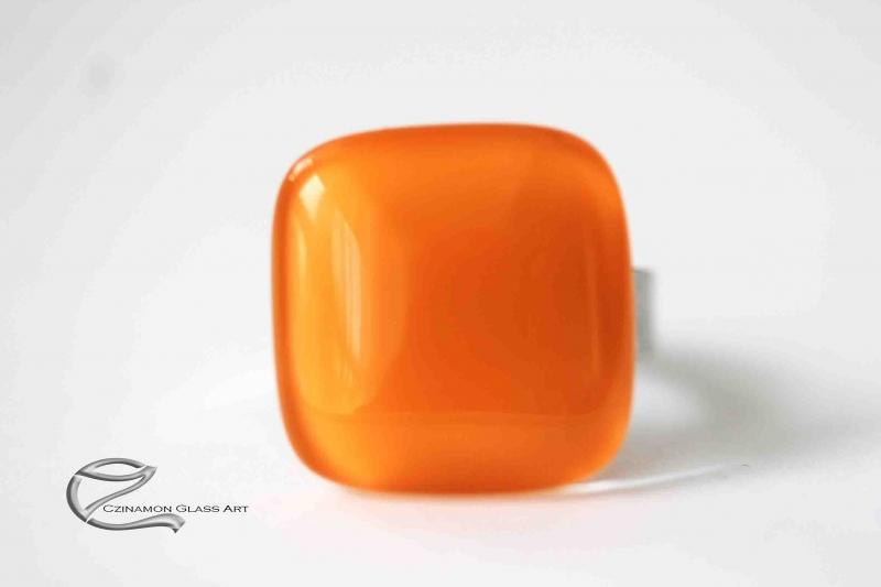 Berkenye sárga üveg gyűrű