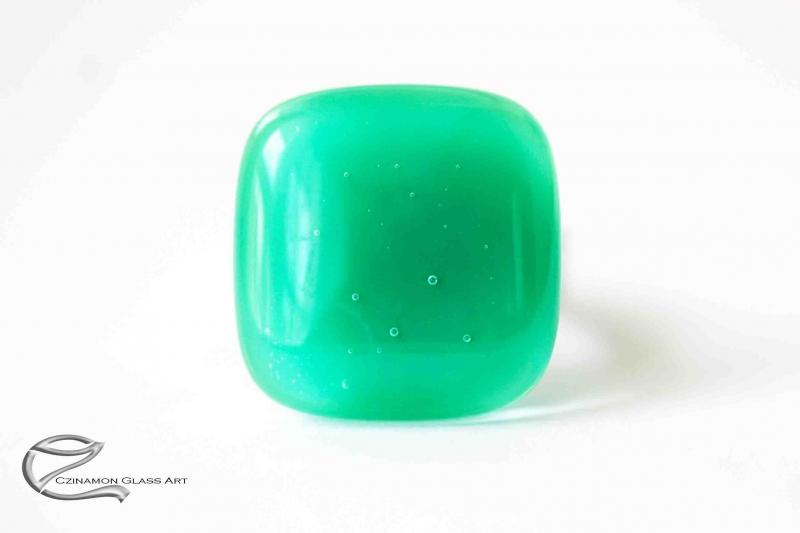 Cédrus zöld üveg gyűrű