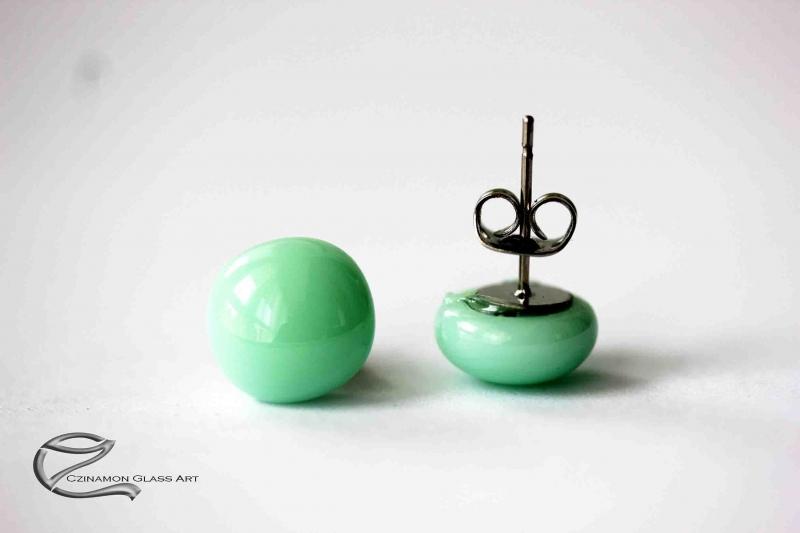 Menta zöld üveg fülbevaló