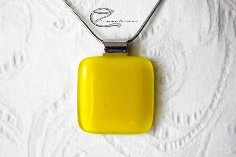 Nap sárga üveg medál