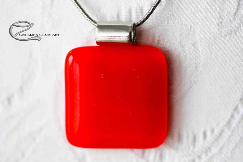 Pipacs piros üveg medál